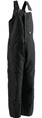 New! Berne Deluxe Black Insulated Bib Overalls, B415Bk