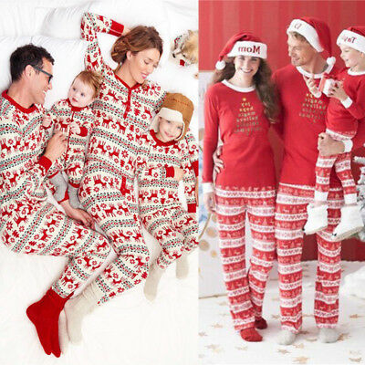AU Kids Adult Family Matching Christmas Pajamas Sleepwear Nightwear Pyjamas