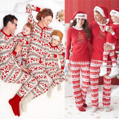 XMAS Kids Adult Family Matching Christmas Pajamas Sleepwear Nightwear Pyjamas