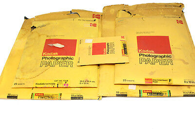 LOT OF KODAK PHOTOGRAPHIC PAPER Open box  Out date