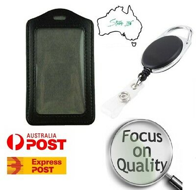 NEW Retractable Lanyard ID Card Holder, Business Badge, Security Pass | AU STOCK