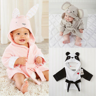 Toddler Kids Boys Girls Warm Nightwear Bath Robe-Gown Sleepwear Homewear Pajamas
