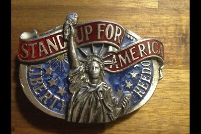 "Gürtelschnalle/ Buckle aus USA ""Stand up for America"""