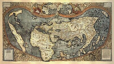 The Martin Waldseemüller 1507 World Map - colorized - 212*122 cm