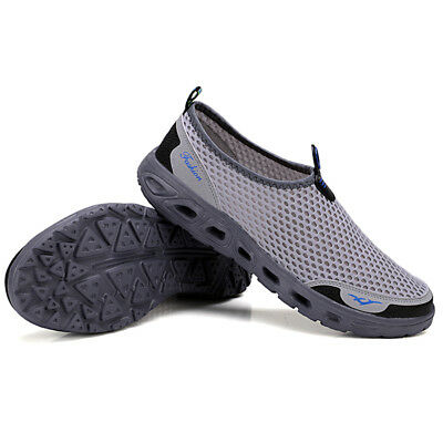 Men's Breathable Mesh Slip On Water Shoes Casual Walking Outdoor Flats Sneakers