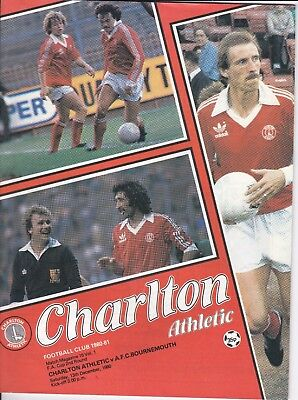 Charlton Athletic v AFC Bournemouth FA Cup 2nd Round 1980/81