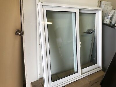 Aluminium Double Glazed Sliding Windows 600mm X 610mm Brand New
