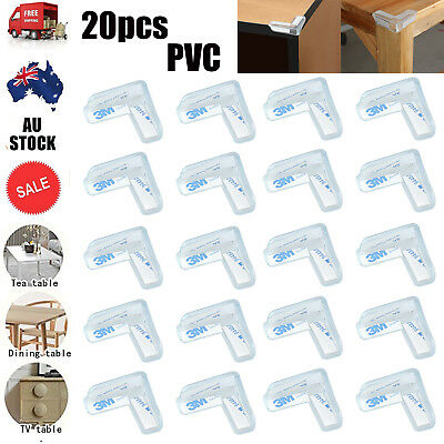 20 Pcs Clear Table Corner Protectors Desk Edge Cushion Baby Child Safety Guard