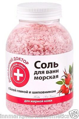 27932 Bath SALT White clay & Rose-hip Vitamins A B1 B2 C E R Home Doctor 1000g