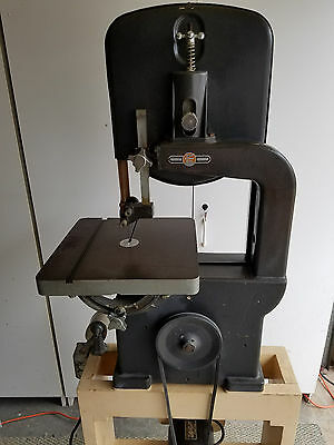 """Atlas/ Power King 12"""" Vertical Wood Cutting Band Saw Model 912 W/ Stand"""