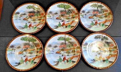 Set of Chinese Hand Painted Enameled Porcelain Plates19th C.