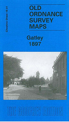 Old Ordnance Survey Map Gatley 1897 Cheadle Sharston Mount Northenden