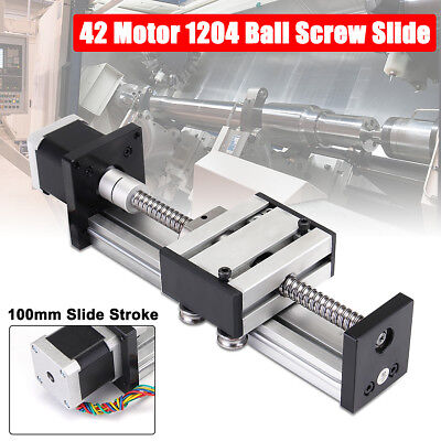 SFU1204 Ball Screw CNC Linear Slide Stroke 100MM Stage Actuator + Stepper Motor