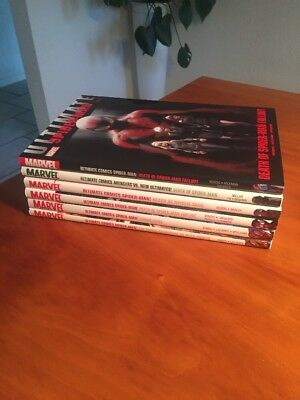 6x ULTIMATE COMICS SPIDER-MAN 'Death of Spider-Man' - HARDCOVER - Complete run