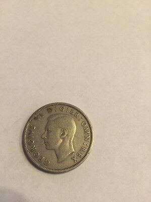 1948 Great Britain Two Shillings Coin