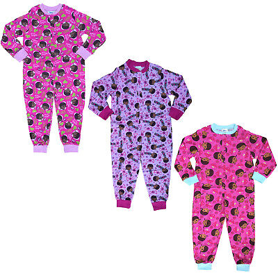 GIRLS ALL IN ONE DISNEY DOC McSTUFFINS SLEEPSUIT PYJAMA NIGHT WEAR 2-5Y BNWT