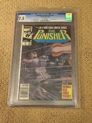 Punisher Limited Series 1 CGC 7.5 White Pages
