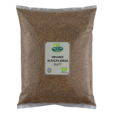 Organic Alfalfa Seeds for Sprouting 2kg Certified Organic