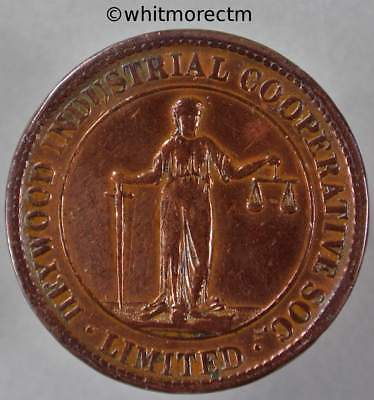 Co-Operative Society Token Heywood Industrial Manchester 30mm By Ardill cleaned
