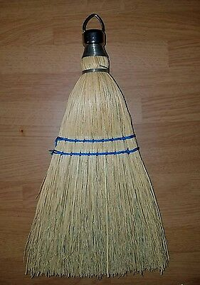 Antique Primitive Whisk Straw Hand Broom Farm Country Decor Fits Rite Yellow