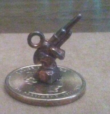 Cracker Jacks prize Howitzer charm made of celluloid 1912-1920 vintage toy