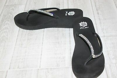 faaf16b61ecf6 YELLOW BOX CHAMOMILE Women s Flip Flops Size 11 Silver Sequined ...