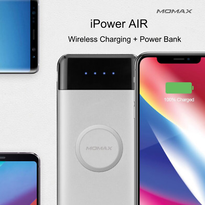 10000mAh Qi Wireless Charger Power Bank Fast Charging PowerStation For iPhone X