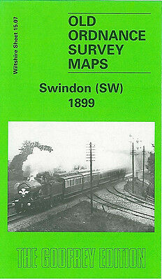Old Ordnance Survey Map Swindon Sw 1899 Kings Hill Cambria Place Okus Quarry
