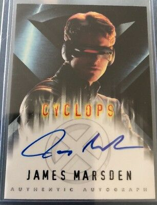 X-men Movie Genuine Autograph Card by James Marsden as 'Cyclops'