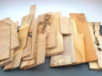 Sawn hardwood board offcuts. Mixed sizes & species. Craft, model making. 5kgUPOC