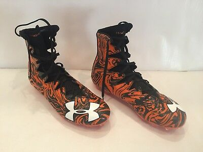 *NEW* Orange Under Armour Highlight LUX MC Football/Lacrosse Cleats -Size 10