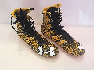 *NEW* Yellow Under Armour Highlight LUX MC Football/Lacrosse Cleats -Size 10