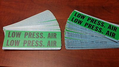 40 pcs Brady Low Pressure Air safety Stickers **NEW OLD STOCK**