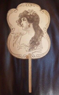 Vintage Victorian F.l. Grant Furniture Advertising Funeral Hand Fan