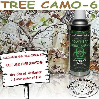 Hydrographic Film Water Transfer Hydro Dip 6Oz. Activator Tree Camo 6 Dip Kit