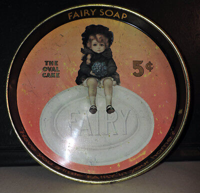 Antique Fairy Soap Advertising Metal Tray By Cheinco