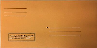 Moist and Seal Imprinted License Plate Envelope 100 Qty per box (R78M)