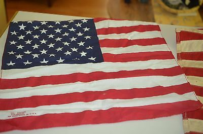 Vintage 2 American flags & 2metal eagle bird figurines, potentially flag toppers