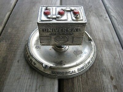 Vintage Universal Battery Co. Ashtray Advertising LOOK COOL