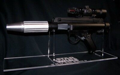 Acrylic display stand for Star Wars Rebel Trooper DH-17 blaster prop