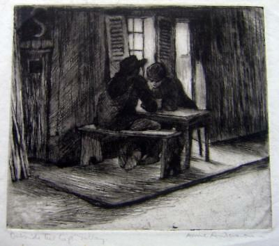 Etchings Outside The Cafe Gallay Anne Anderson  C1920