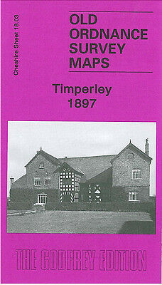 Old Ordnance Survey Map Timperley 1897 Thorley Lane Baguley Hall