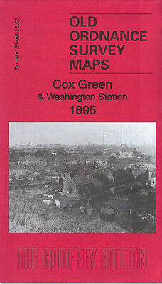 Old Ordnance Survey Map Cox Green & Washington Station 1895