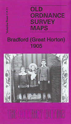 Old Ordnance Survey Map Bradford Great Horton 1905 Pickles Hill Wibsey