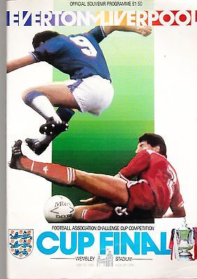 Everton V Liverpool Football Programme 10 May 1986 FA Cup Final Wembley Stadium