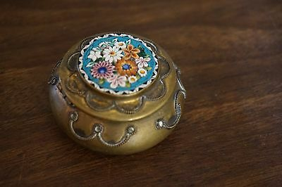 Antique or Vintage Italian Micro Mosaic Floral Box