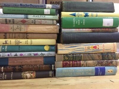 Lot of 21 Vintage Childrens Books Hardcover Fiction Old Books