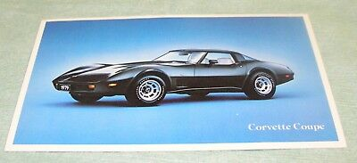 Vintage 1979 Chevrolet Corvette Black Coupe Car Advertising Postcard