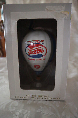 """Spec Cast"" ""Ask for Pepsi Cola"" 1997, Diecast Hot Air Balloon Bank"