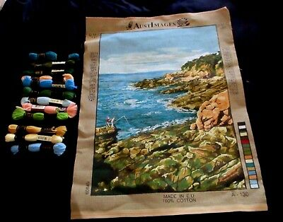 Tapestry Austimages  #a-130 Made In E.u. 100% Cotton + 12 Dmc Wools - Unworked